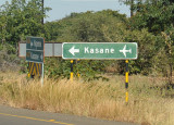 Sign for Kasane Airport, Botswana