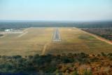 Approach to runway 8 at Kasane, Botswana (FBKE)