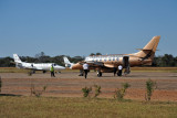 Proflight Zambia Jetstream (9J-PCS) with a pair of chartered Kenyan citations (5Y-SIR and 5Y-WSR), Mfuwe