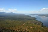 Looking east along the Zambian side of the Lower Zambezi