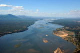 Zambezi River - Zambia on the left, Mana Pools National Park in Zimbabwe on the right
