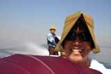 Dennis on the Inle Lake boat