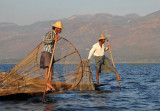 Leg-rowing is a technique unique to Inle Lake