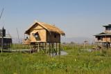 New-looking hut on stilts, Inle Lake