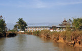 Monastery on the side of the river to Indein