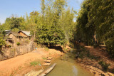 Canal leading into the bamboo forest north of Indein