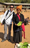 Dennis and a Hill Tribe woman, Indein Market