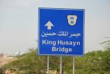 Road to the King Hussein Bridge