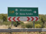 Roadsign for Hosea Kutako International Airport, Windhoek