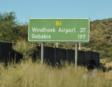 Trans-Kalahari Highway to Windhoek Airport and Gobabis