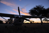 Cessna at sunset, Olifantwater West