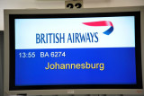After South African Express cancelled my flight to Cape Town, I headed for Jo'burg on BA