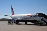 British Airways (Comair South Africa) B737 at WDH (ZS-OKH)