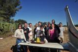 Champagne reception on arrival at Eureka Farm
