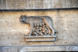 The she-wolf of Rome nursing Romulus & Remus, Piazza del Viminale