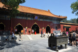 First Courtyard with the Hall of the Heavenly Kings, the southernmost of the Lama Temple's 5 main halls