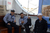 Mexican sailors on the Cuauhtemoc