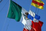 Mexican flag on the ARM Cuauhtemoc