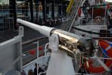 Naval gun on the ARM Cuauhtemoc