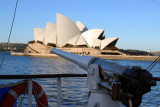 Gun of the Cuauhtemoc with the Sydney Opera House