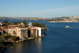 Kirribilli on the north side of Sydney Harbour by the bridge