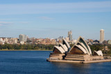 Sydney Opera House from the north side of the Sydney Harbour Bridge