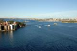 Sydney Harbour from the bridge