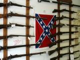 Shop in Gettysburg selling Civil War era rifles