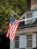 Betsy Ross Flag - 13 stars in a circle with 13 stripes first used in 1777