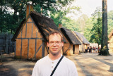 Roy at Jamestown Settlement - historical recreation of the 1607 English colony