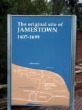 The original site of Jamestown 1607-1699