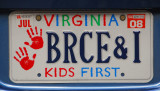Virginia license plate - Kids First