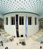 Stitch of 3 photos of the interior of the British Museum
