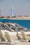 Beach of the Atlantis with the Burj al Arab