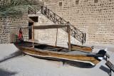 An old abra used to ferry passengers across Dubai Creek