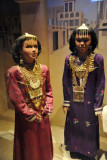 Dubai Museum - girls in festive clothing