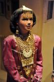 Dubai Museum - festive clothing of a girl