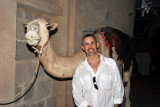 Rafi with the camel at Dubai Museum