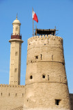 Tower of Dubai Fort with minaret