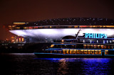 Philips boat cruising past the Expo Cultural Center