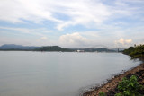The approach to the Panama Canal from the Pacific side