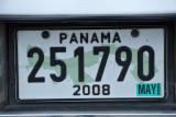 Panama License Plate, 2008