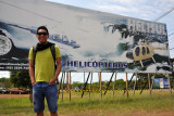 Billboard for Helisul Helicopter flights, Iguaçu Falls