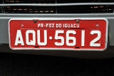 Brazil License Plate (red) - Paraná - Foz do Iguaçu