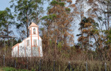 Roadside cutout of a typical Minas Gerais colonial church, sign of things to come along the Estrada Real