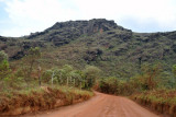 The dirt road leading to Lavras Novas