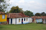 Houses along the main street of old Lavras Novas