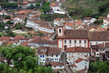 Looking down on the Conception Church, Ouro Preto