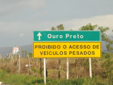Estrada Real to Ouro Preto - heavy vehicles prohibited