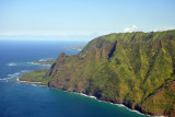 The north end of the Napali Coast at Haena State Park